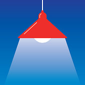 istock Red Hanging Light Icon 1196738655