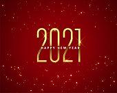 istock 2021 red happy new year sparkles golden banner design 1284208416