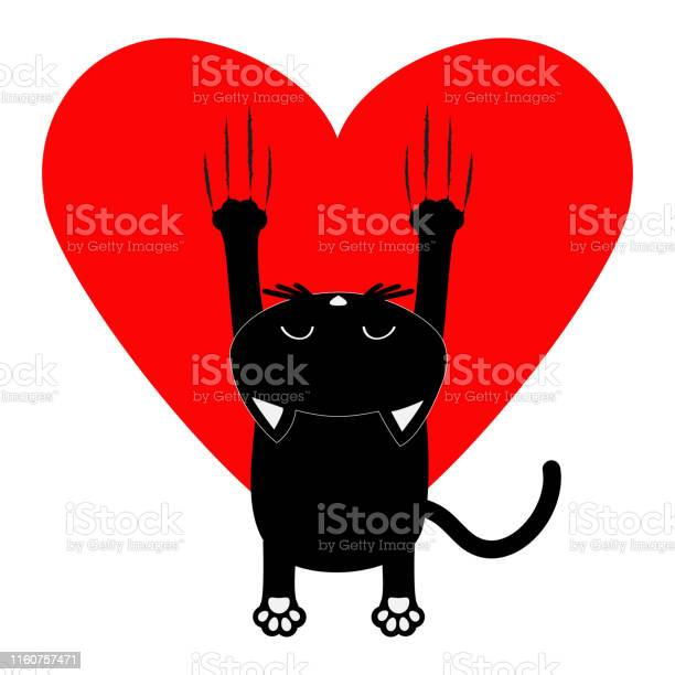 Red heart cartoon black cat back view red bloody claws animal scratch vector id1160757471?b=1&k=6&m=1160757471&s=612x612&h=amq8qvaco2gcdfidit1c3f5xayenmz7doxpprvnxdjo=