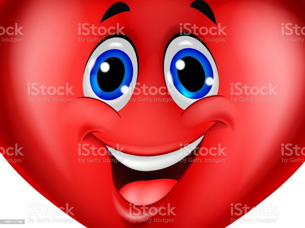 Red heart cartoon royalty-free stock vector art
