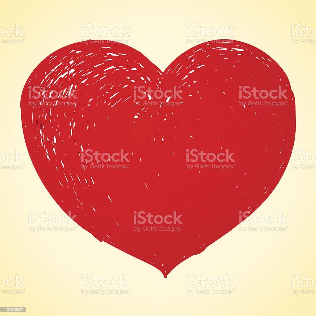 Coeur Dessin rouge coeur dessin – cliparts vectoriels et plus d'images de