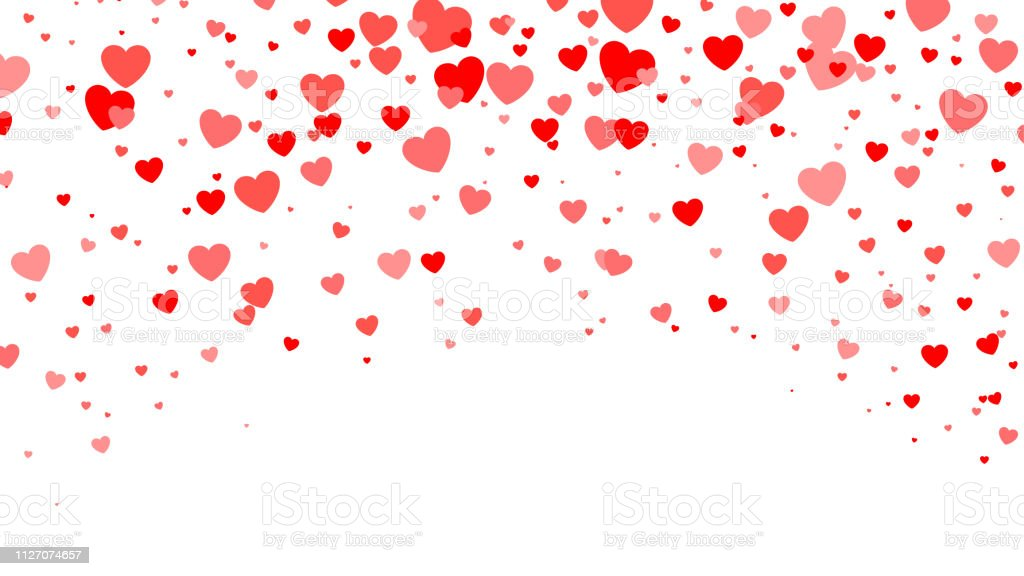 Red Heart halftone Valentine`s day background. Red hearts on white. Vector illustration - Royalty-free Abstrato arte vetorial