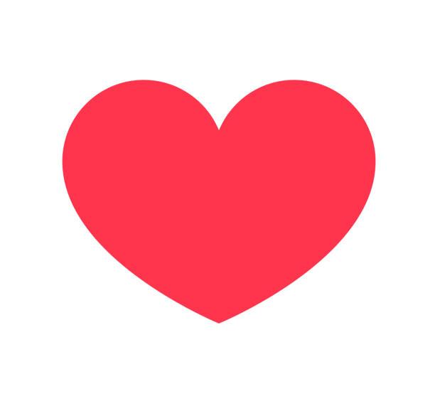 stockillustraties, clipart, cartoons en iconen met rood hart pictogram geïsoleerd op een witte achtergrond. symbool van de liefde voor website logo, mobiele app ui design. vector illustratie vlakke stijl - breed