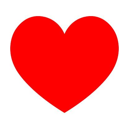 red heart symbol flach vektorgrafik stock vektor art und mehr bilder von  abstrakt - istock  istock