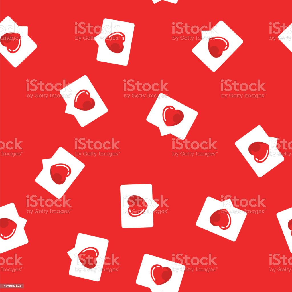Dating social website logos with a red