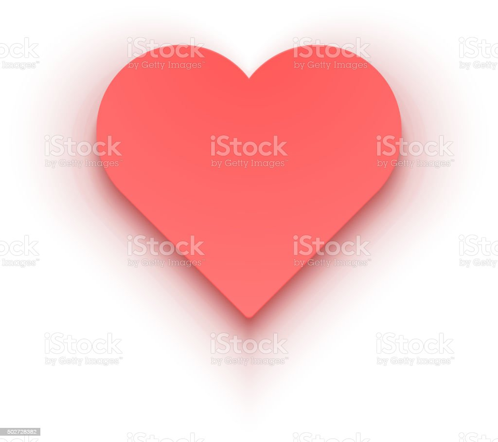 Red Heart Isolated on White background Vector vector art illustration