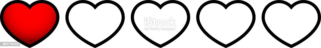 Red Heart Life Gauge 1 Stock Vector Art & More Images of Abstract