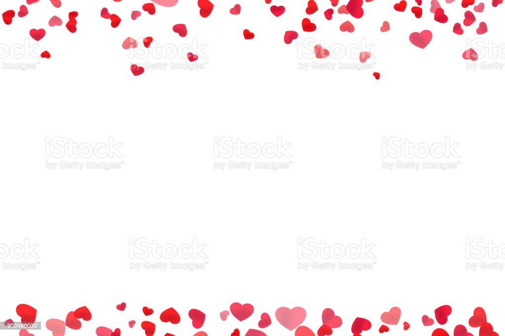 Red Heart Line Frame Stock Vector Art & More Images of Backdrop ...