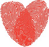 Two fingerprints make a heart shape, great for a Valentines card! Please check out my other images :)