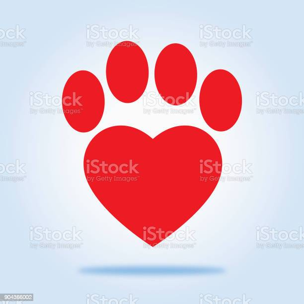Red heart paw icon vector id904366002?b=1&k=6&m=904366002&s=612x612&h=wc4ct0nscoclv xkp6vzd3efulxcewakcdtlks fdty=