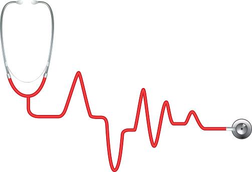 Red Heart Rate Stethoscope - EKG