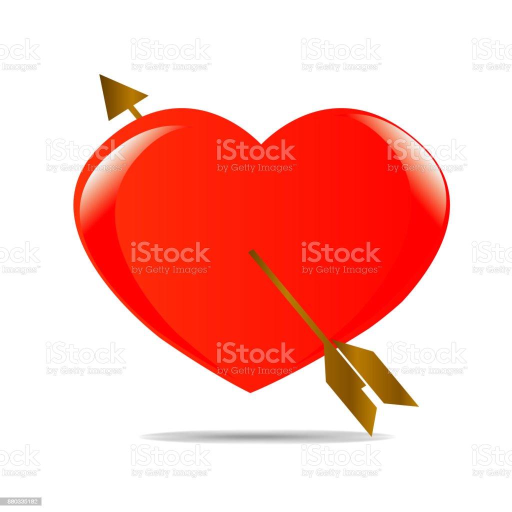 Red Heart Shape Symbol For Love Icon Valentine Stock Vector Art