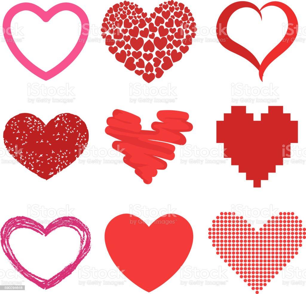 Red heart vector icons red heart vector icons — стоковая векторная графика и другие изображения на тему Абстрактный Стоковая фотография
