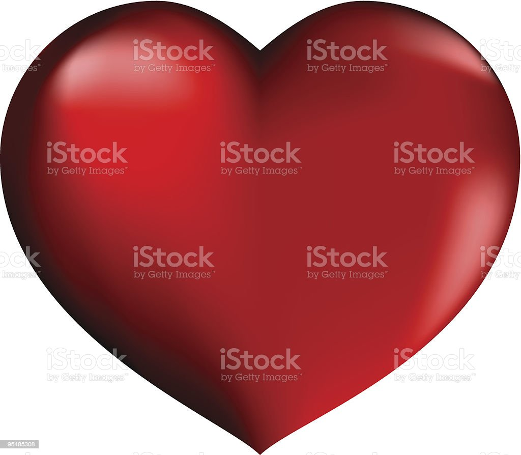 red heart royalty-free stock vector art