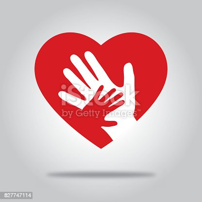istock Red Heart With Hands 827747114