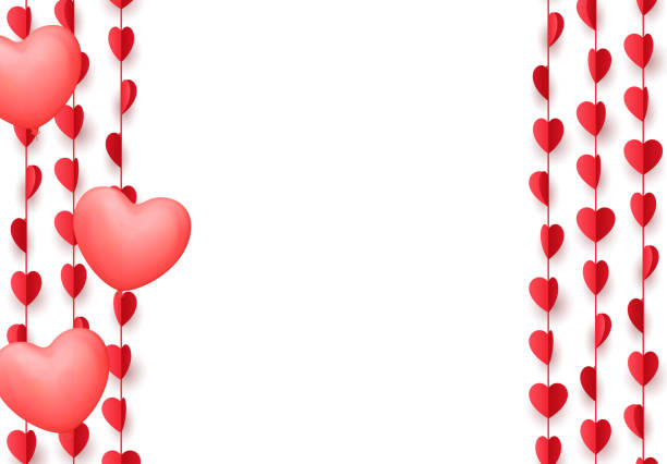 Download Vector Illustration Of 3d Elegant Red Love Heart Isolated ...