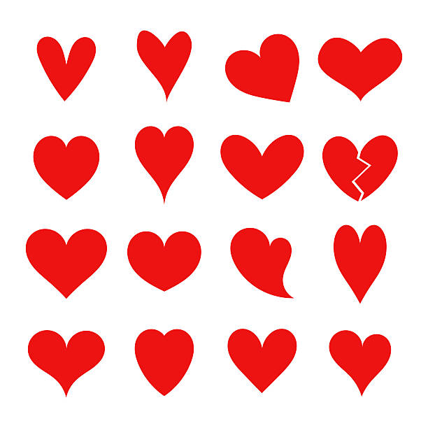 red hearts collection - heart stock illustrations, clip art, cartoons, & icons