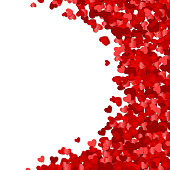 Red hearts confetti Valentine's day or Wedding