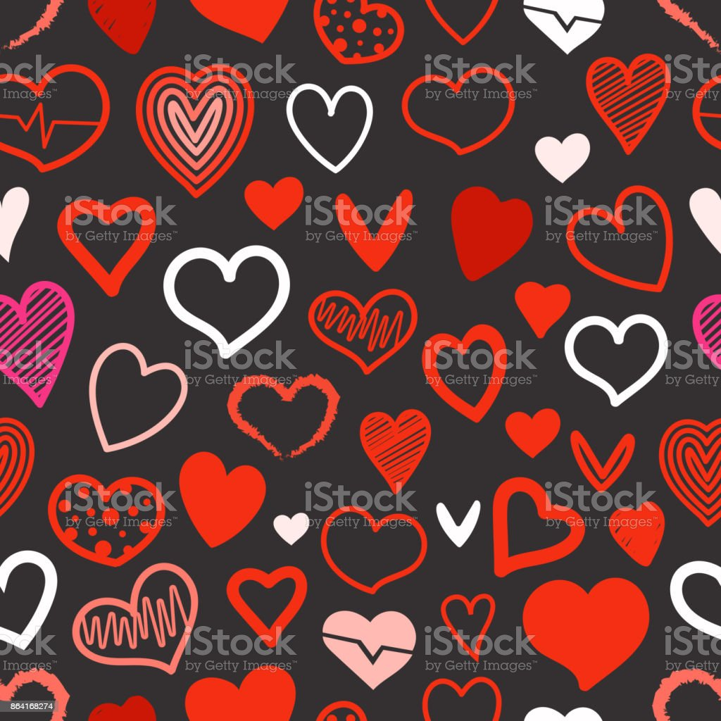 Red hearts seamless background. Design elements for Valentines day royalty-free red hearts seamless background design elements for valentines day stock vector art & more images of abstract