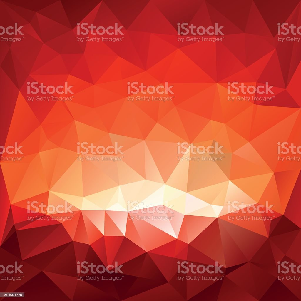 red hell triangular background vector art illustration