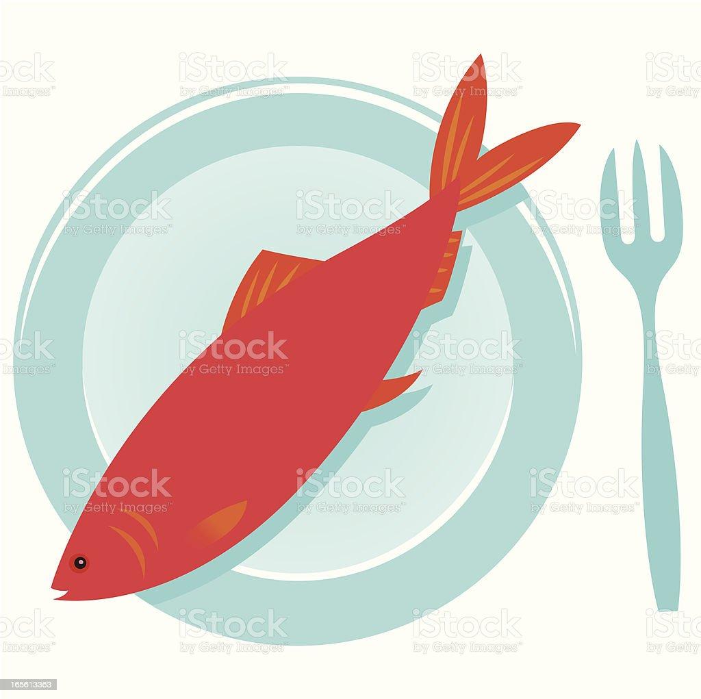Red Herring vector art illustration