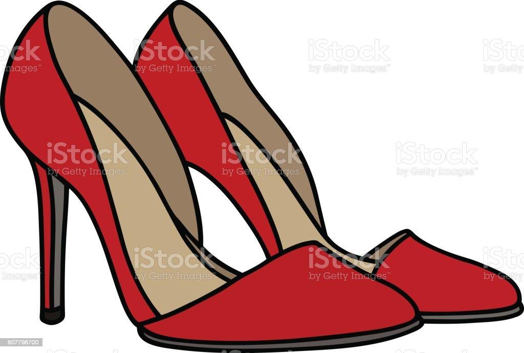 Rote High Heel Schuh Stock Vektor Art und mehr Bilder von Comic Kunstwerk