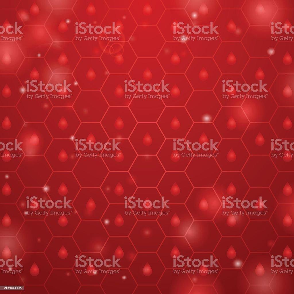 hive fondo rojo - ilustración de arte vectorial