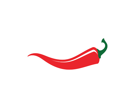 Red hot natural chili icon