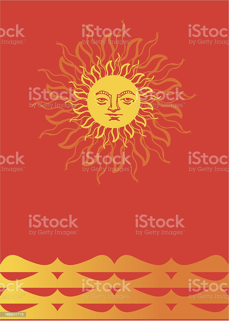 red  hot sun heat royalty-free stock vector art