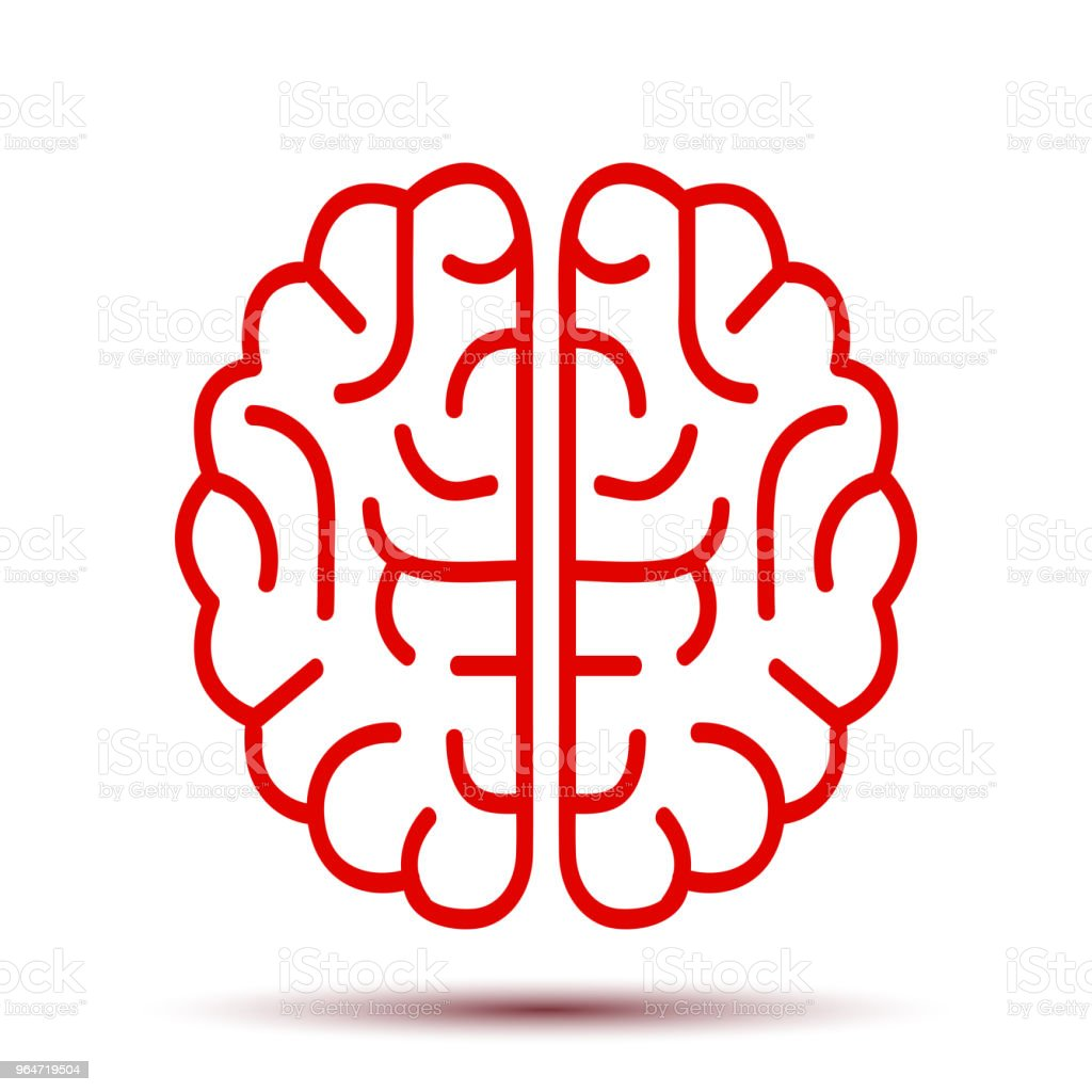 Red human brain icon - stock vector royalty-free red human brain icon stock vector stock vector art & more images of art