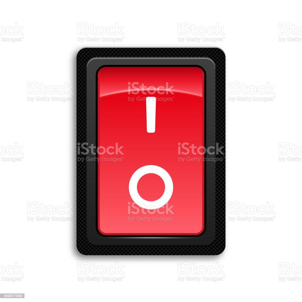 Rotes Symbol Ein Und Ausschalten Einaus Schalter Stock Vektor Art ...