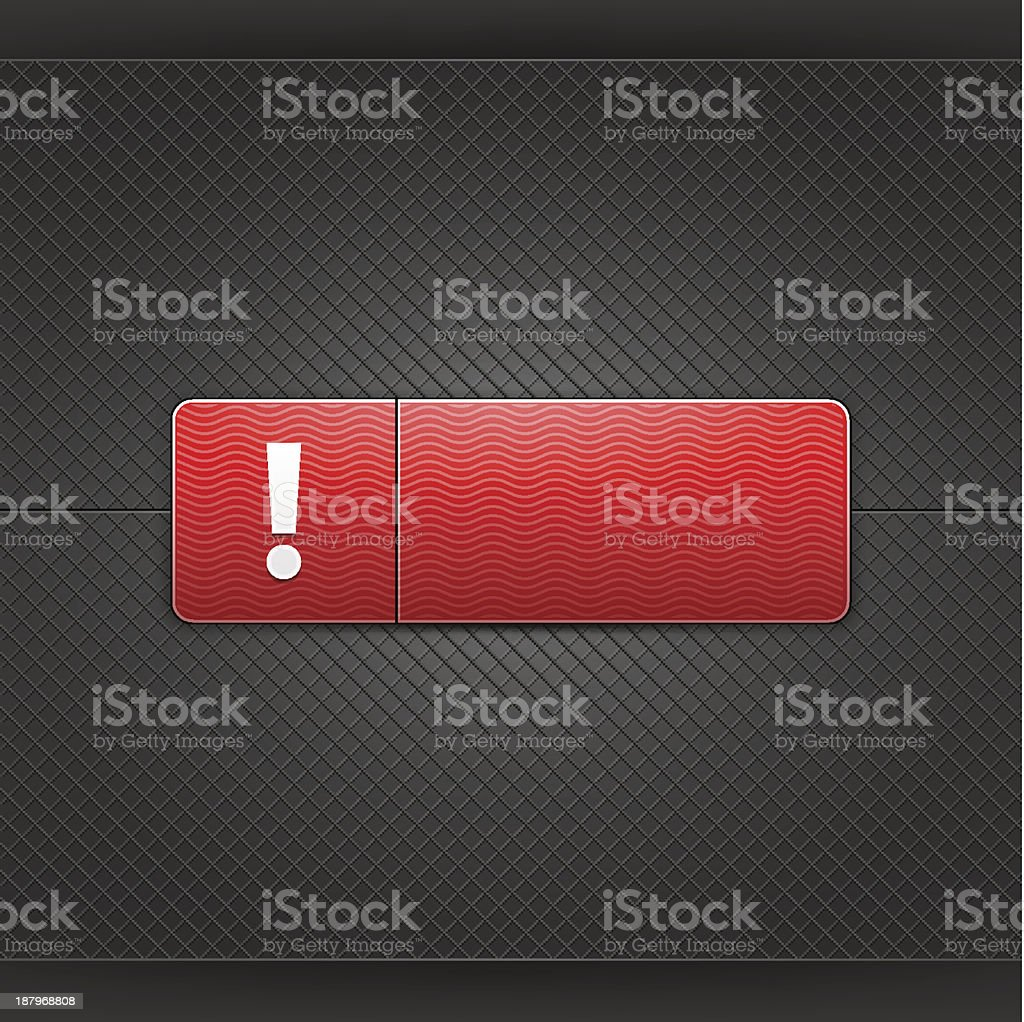 Red icon warning sign exclamation point web internet button royalty-free stock vector art