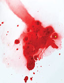 Blood, Spray, Drop, India, Ink