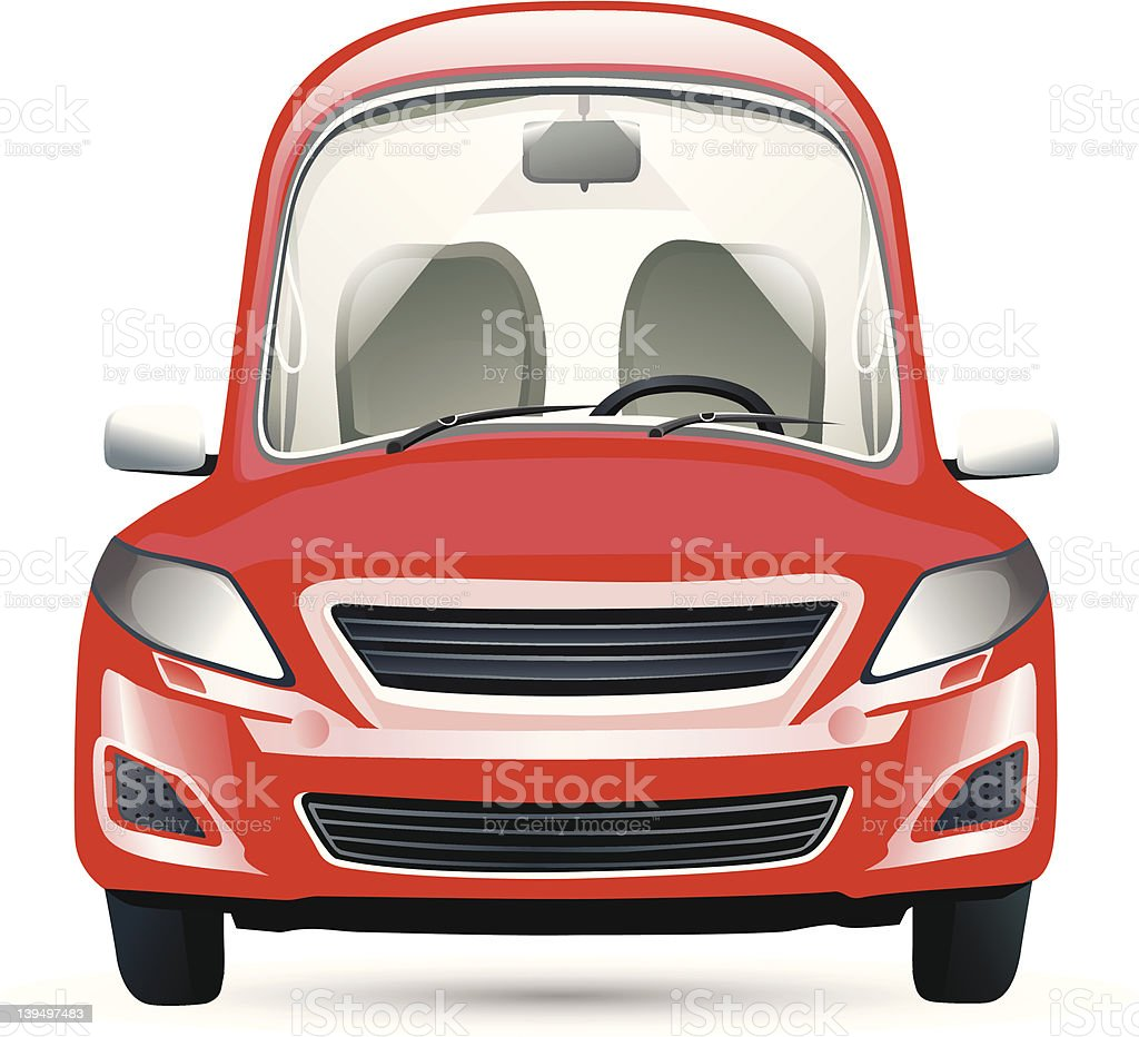red isolated car royalty-free stock vector art