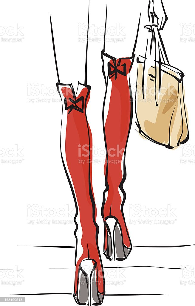Red jackboots royalty-free stock vector art