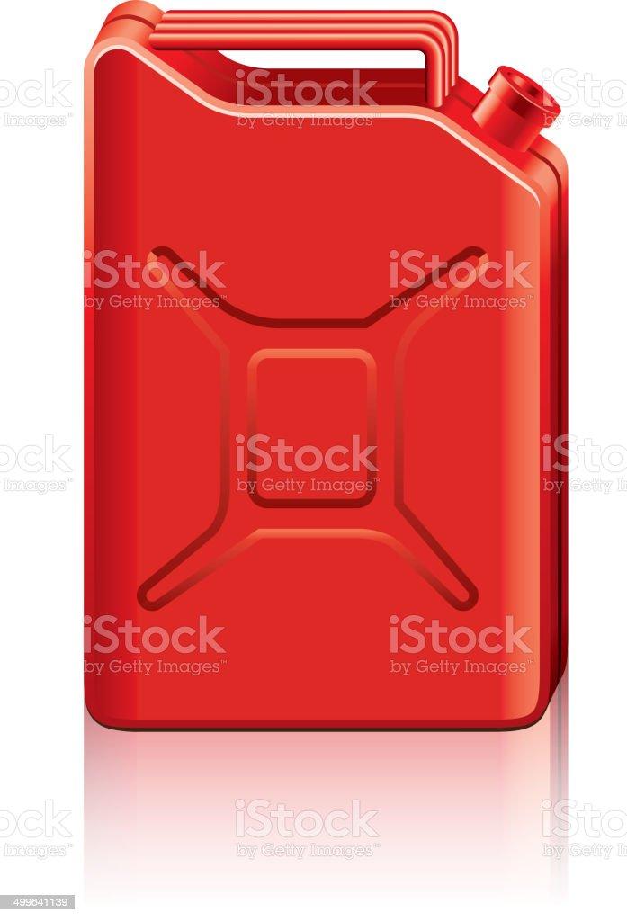 Red jerrycan vector illustration vector art illustration