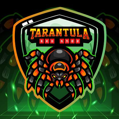 Red knee Tarantula mascot.     design