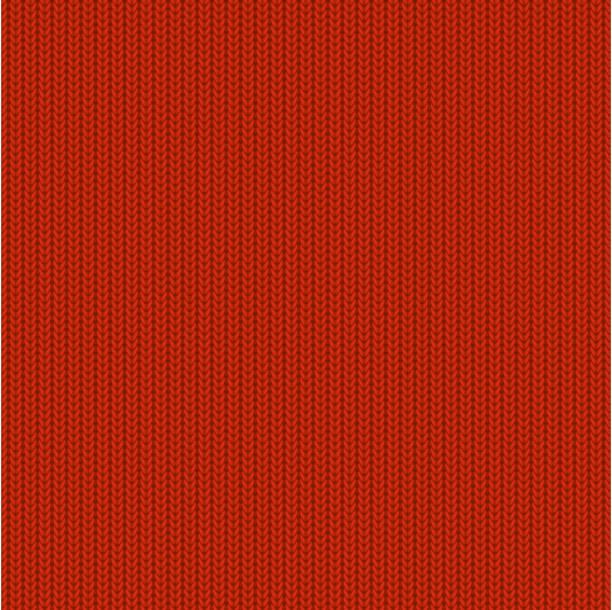 レッドのニットパターン - 編む点のイラスト素材/クリップアート素材/マンガ素材/アイコン素材