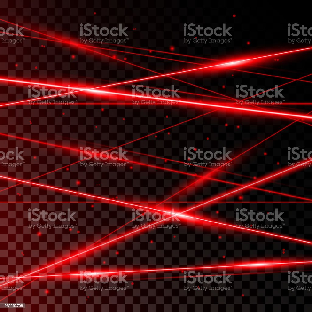 Red Laser Beams royalty-free red laser beams stock illustration - download image now