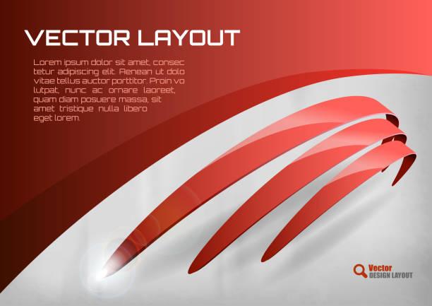 Red Layout vector art illustration