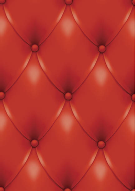 Red leather background. vector art illustration