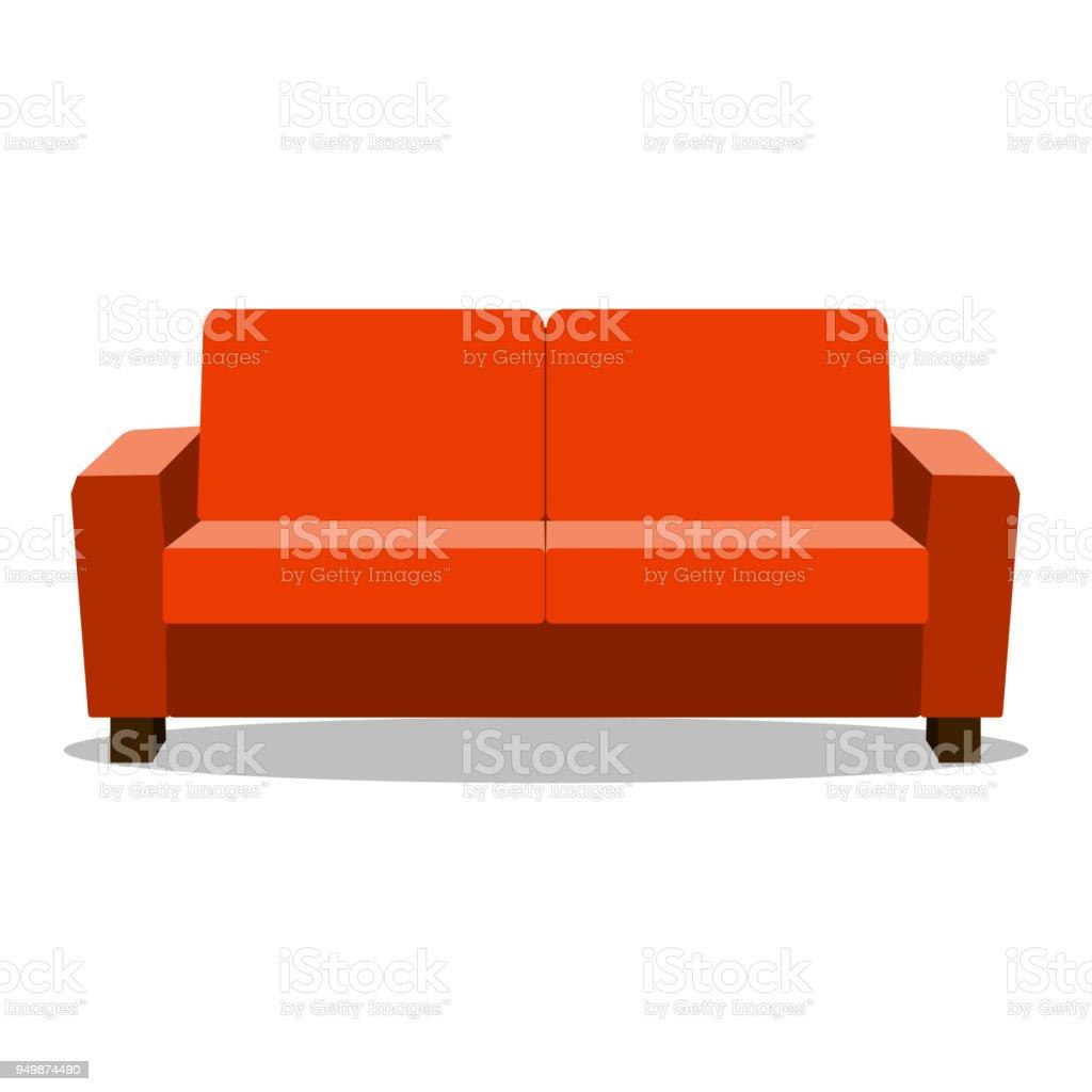 Canapé De Luxe En Cuir Rouge Pour Salon Moderne Réception Ou Salon Objet  Unique Conception Réaliste