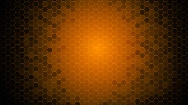ilustrações de stock, clip art, desenhos animados e ícones de red light abstract vector hexagon background - vr red background