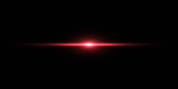 黒い背景に赤い光線 - 夜明け点のイラスト素材/クリップアート素材/マンガ素材/アイコン素材