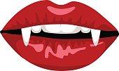 red lips of vampire