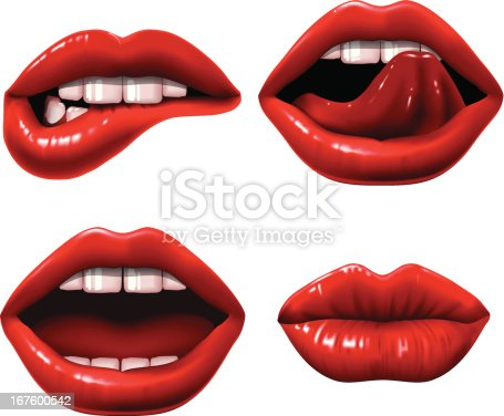 Set of 4 Lips