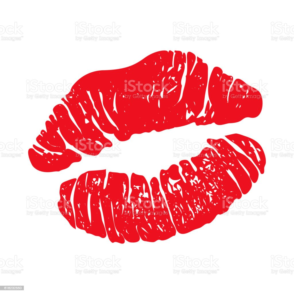 Red Lipstick Kiss Stock Vector Art & More Images of Cut ...