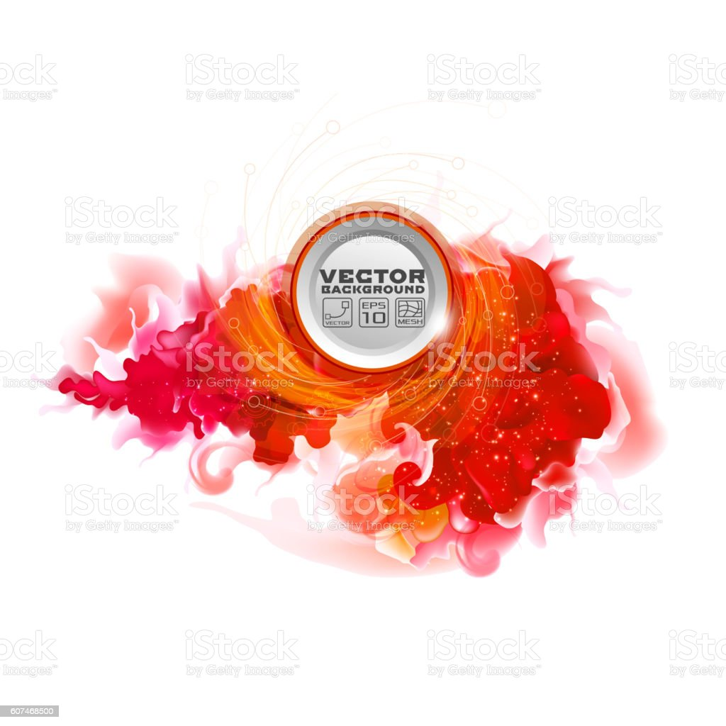 Red liquid background vector art illustration