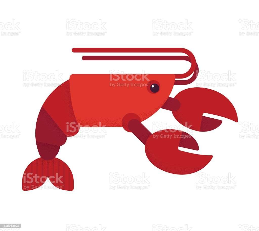 Red lobster illustration vector art illustration