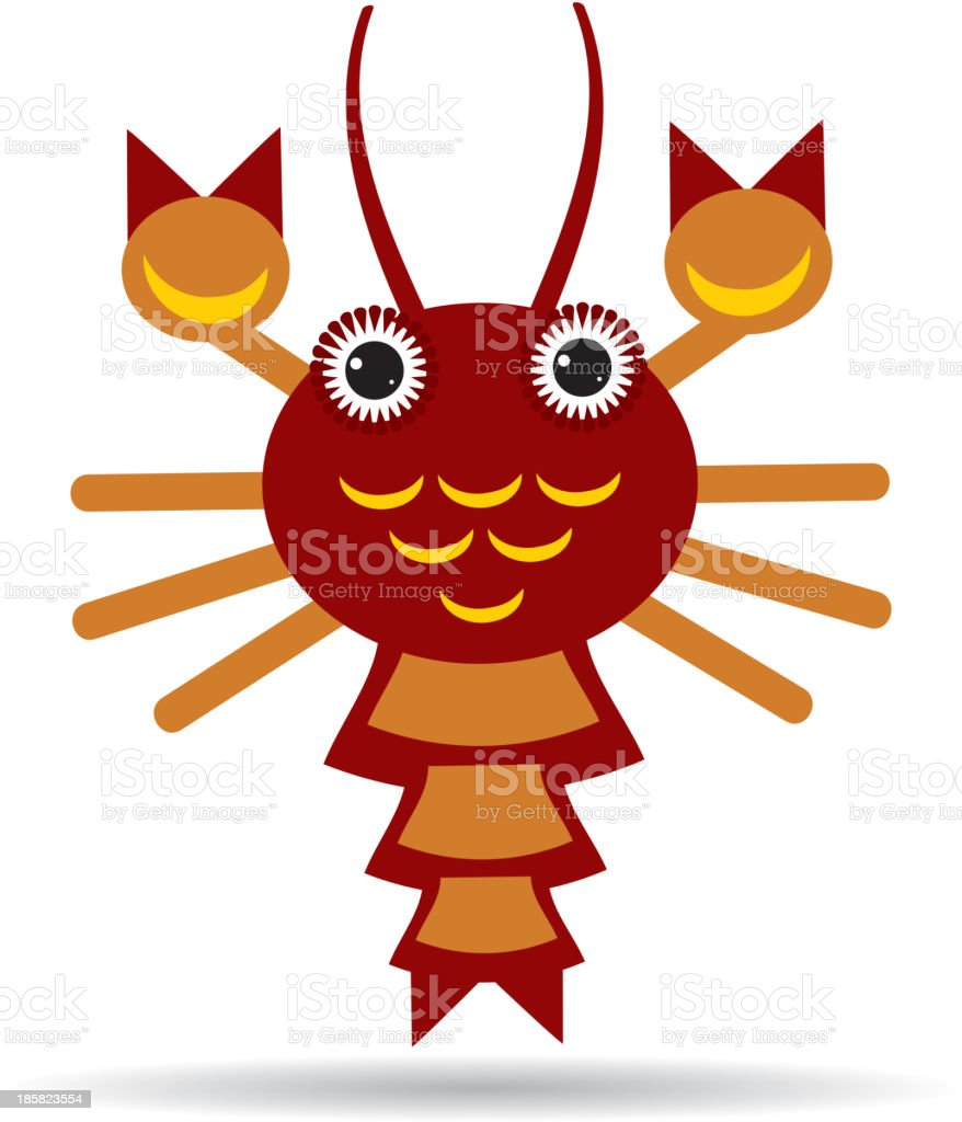 Red lobster on a white background. vector royalty-free red lobster on a white background vector stock vector art & more images of animal